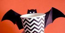 Halloween party ! / Attention vous allez trembler ! Chauve-souris et sorcières font leur grand retour pour Halloween. Piochez dans notre tableau toutes les idées de déco, costumes et recettes pour la plus effrayantes des fêtes !