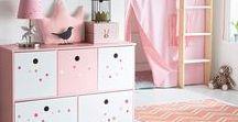 """Pink & Purple / Du rose et du violet pour une touche de gaieté ! Retrouvez dans ce tableau notre sélection """"Pink & Purple"""" pour décorer la chambre de vos enfants"""