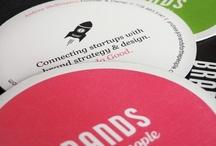 Bravely branded business cards