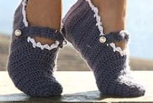 Slip on Some Crocheted Slippers / by Candy Selvey
