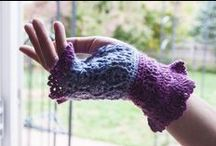 Crocheted Fingerless Gloves / by Candy Selvey