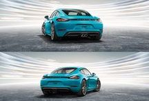 The new Porsche 718 Cayman and 718 Boxster / The new Boxster and the new Cayman are the sequel that continues the 718 era. At their  heart, a four-cylinder turbocharged boxer engine beats with the same fighting spirit that delivered countless podium finishes.  Learn more: http://www.porsche.com/718   *Fuel consumption in accordance with EU 6 718 Boxster models: Combined: 6.9-8.1 l/100 km; CO2 emissions: 158-184 g/km