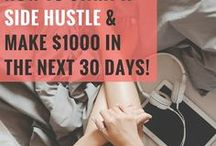 Side Hustle Tips / Money-making and inspiration tips for your side hustle, part-time job, work from home jobs, hobby, business and entrepreneurship.