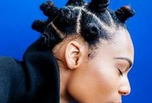 Bantu Knots / Bantu knot hairstyles and inspiration for women of color with relaxed or natural hair.