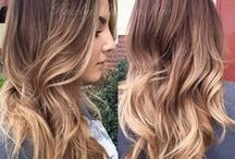 Hair color and cuts / Always switching from blonde to brown and back again!!! / by Christy Parker