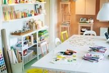 Children's Art and Writing Spaces