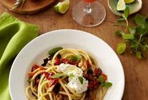>> Food: Pasta + Pizza / I've got your carbs here. Pasta, pizza, and bread recipes.