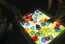 Light Box and Light Table Exploration / Light Box exploration for children to explore light colour and much much more!