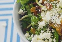 >> Food: Salads + Smoothies / Get healthy with these fresh salad ideas and blended beverage recipes.  / by Krystal at Sunny Sweet Days