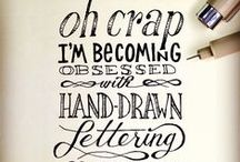 How to do hand lettering / Introduction to lettering, hand lettering, calligraphy and typography. Drawing letters is fun!