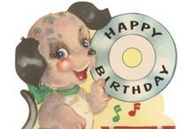 Vintage Birthday / Vintage birthday cards and images.  You'll find some cute vintage birthday cards in my shop:  http://stores.ebay.com/Birdhouse-Books