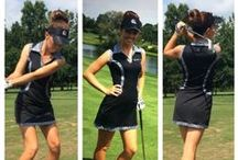 LBD Little black golf dresses! / #golfdresses #golffashion #LBD  find these looks online golfhergirl.com / by GolfHER ~ ladies golf apparel