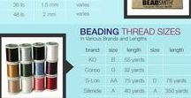 Jewellery materials and tools / sizes of beads, threads and wires etc
