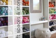 Craft Spaces & Storage / Beautiful and practical ways to safely store your yarn and craft stashes.