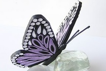 3D quilling about butterfly