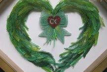 3D Christmas Wreaths