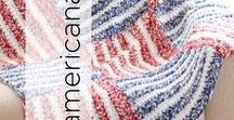 Americana / Celebrating products made in America; and America related yarn craft patterns