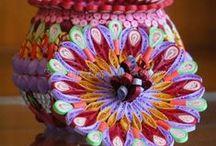 3D quilling about vases, pots, jugs,....