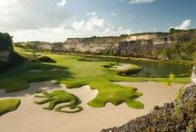 Famous Par 3 Golf Holes / This board features photos of some of the most famous par 3 holes in the world.