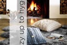 Cozy Up to Hygge / The Hygge Lifestyle is all about being comfy, cozy, and warm. Oversized, chunky knits and big, soft blankets are just a few things that will upgrade your world into the Hygge style!