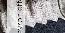 Chevron Effect / Awe inspiring knit and crochet chevron designs