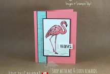 Stampin' Up! Flamingo Cards / Flamingo themed cards created with Stampin' Up! paper, ink, stamps, tools and embellishments.