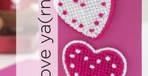 Love Ya(rn) / Red, white, pink, and everything in between! Spread the love this Valentine's Day with these beautiful yarn crafts!