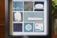 Stampin' Up! Shadowboxes / Shadowbox samplers created with Stampin' Up! stamps, paper, ink, tools and embellishments.
