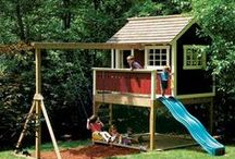 DIY Kid's Project Ideas / Thrill Your Favorite Child. Build a Playhouse, Swing Set, Tree House, Play Fort or Playground With the Help of the Blueprints, Building Kits, Free Plans and Ideas that You'll Find Here. / by Don @ Today's Plans
