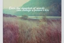 Inspiring words / by Paula Poukka