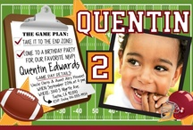 Football Themed Birthday Party / You'll certainly score a touchdown with your special MVP if you order your custom invitations from Delight Invite.  Check out some other party ideas we've scouted out for you!