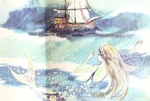 Mermaid Fine Art / Beauty, culture & art depicting mermaids of various time periods from sea to shining sea - www.DanaMermaid.com oOooOooOooo