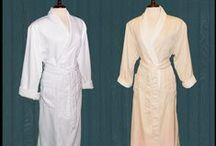 """Vero Linen Spa Robes / Microfiber/Terrycloth Spa Robes  Our luxurious robes are constructed with a microfiber outer shells and a soft terry lining. All feature a rolled collar for a more upscale look and feel.  These are the """"gold standard"""" in microfiber robes. Found in the best hotels and spas, these peached (brushed for additional softness) microfiber robes are the ultimate in luxury, comfort."""