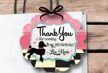 1950's Retro Birthday Party / Are you planning a 1950's retro birthday party for your little Pink Lady? This retro Poodle Skirt birthday invitation set is the perfect choice for your upcoming shindig!