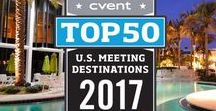 Cvent's Top 50 Meeting Destinations In The United States 2017 / Cvent is proud to present the 6th annual list of the year's top destinations for meeting and events in the United States. Cvent evaluated thousands of cities, ranking them based on meeting and event booking activity in the Cvent Supplier Network, as well as the number of meeting and event venues in the area.