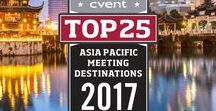 Cvent's Top 25 Meeting Destinations In The Asia Pacific 2017 / Cvent is proud to present the second annual list of the year's top destinations for meeting and events in the Asia Pacific. Cvent evaluated thousand of cities, ranking them based on meeting and event booking activity in the Cvent Supplier Network, as well as the number of meeting and event venues in the area.