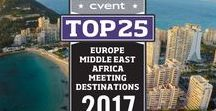 Cvent's Top 25 Meeting Destinations In Europe Middle East Africa 2017 / Cvent is proud to present the third annual list of the year's top destinations for meeting and events in Europe, Middle East and Africa. Cvent evaluated thousand of cities, ranking them based on meeting and event booking activity in the Cvent Supplier Network, as well as the number of meeting and event venues in the area.