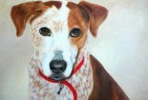 Pet Portraits by Abbyanna Gehrke / These are pet portraits painted in oil or acrylic. #petportrait #dogportrait