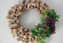 Wine and cork craft ideas / Things to do with all my wine bottles and corks...no reason to drink less wine! / by Cassie Johnson