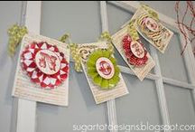BANNERS AND GARLANDS / Scrapbooking project and other craft for banners and garlands
