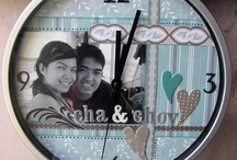 CLOCKS / Scrapbooking project and other craft for altered clocks