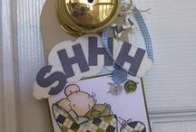 DOOR HANGER / Scrapbooking project and other craft for door hanger