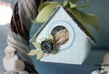 BIRDHOUSE PROJECT / Scrapbooking project and other craft for birdhouse
