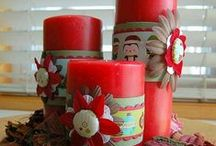 CANDLES / Scrapbooking project and other craft with candles