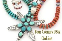 FourCornersUSAonLine.com / Four Corners USA OnLine Shopping | Native American Indian Jewelry | Navajo Silver Jewelry | Artisan Jewelry | Jewelry Making Supplies / by Four Corners USA OnLine