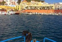 Ponza / One of the Pontine islands in the Tyrrenian sea Ponza is in easy reach of Rome and Naples. Ponza is dream destination for beach and water lovers.