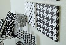 Black and White Home Decor / Get a clean unified look with graphic black-and-white patterns and designs in this collection. From pillows to placemats, redecorate with this sleek design.
