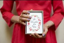 Thank You Cards and More / Get creative and personalize your own Thank You cards to send to your special guests.
