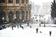 Rome in Winter / Rome in winter is wonderful. You will find empty museums, bright blue skies and carnival sweets.