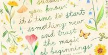 moments and beginnings / those quiet moments when we can begin a new project or pick up an old one